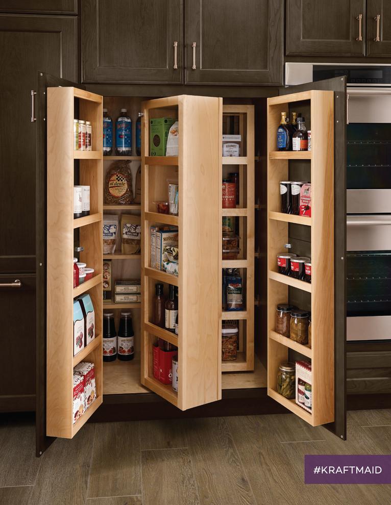 Storage Pantry Contemporary Kitchen, Kitchen Pantry Cabinet Kraftmaid