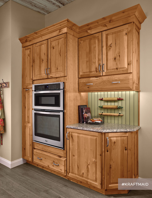 ... Alder Kitchen Cabinetry in Natural - Rustic - Kitchen - by KraftMaid