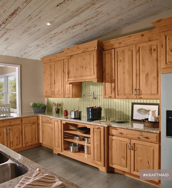 KraftMaid: Rustic Alder Kitchen Cabinetry in Natural ...