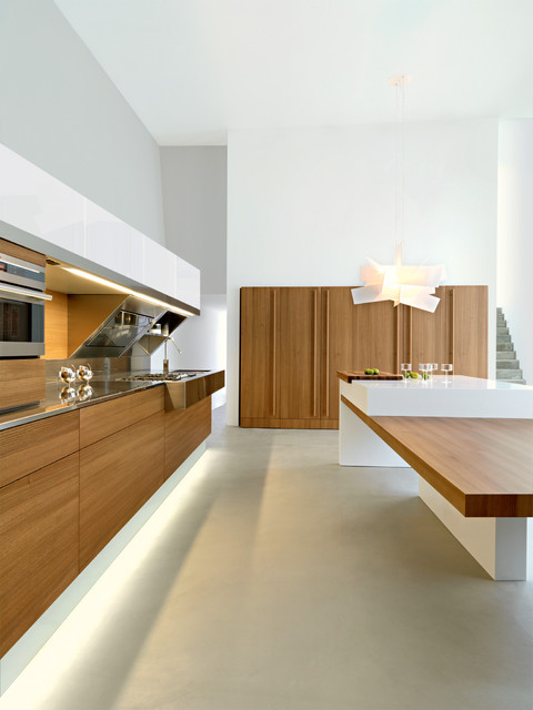Kube By Giovanni Offredi Design Elm Wood And Ice White High Gloss Lacquer