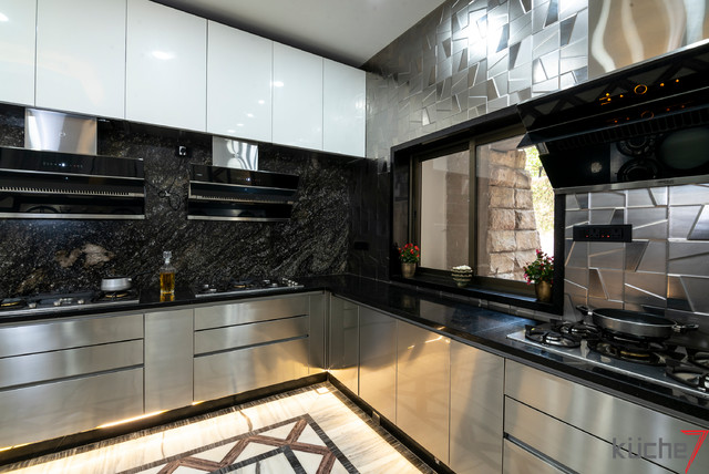 Kuche7 Stainless Steel Modular Kitchen Modern Kitchen Mumbai By Kuche7 Houzz Uk,High End Modern Interior Design