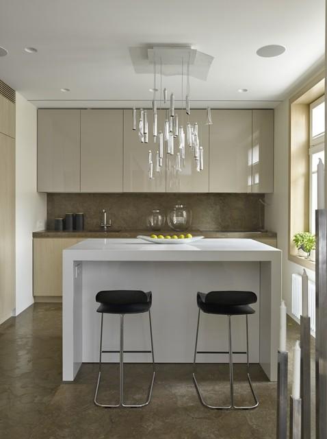 厨房-白色-吧台装修效果图