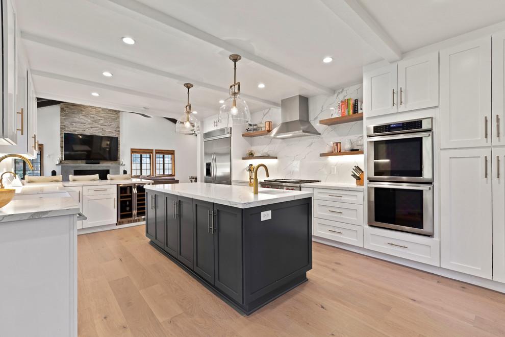La Canada Tiles Quartz And Wood Floors Transitional Kitchen Los Angeles By Spazio La Tile Gallery