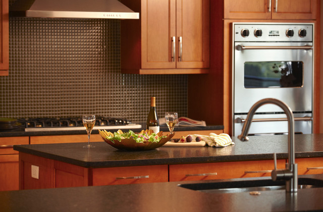 Labrador Green Suede Granite - Contemporary - Kitchen - Chicago - by Global Granite & Marble