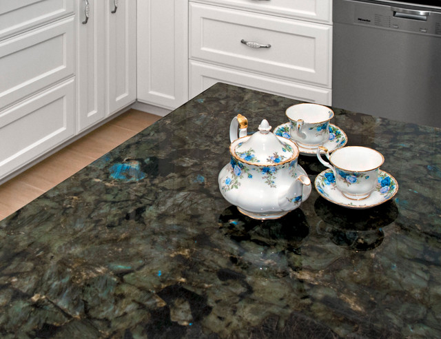 Labradorite Blue River Kitchen Traditional