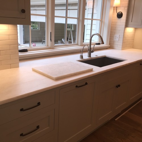 We Used Four Slabs Used For This Kitchen Countertops, Which Were Hand  Picked From A Variaty Of Other Pieces We Had Previously Selected After  Visiting ...