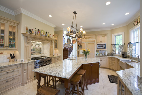 Design what s the size of the kitchen and how much space is between