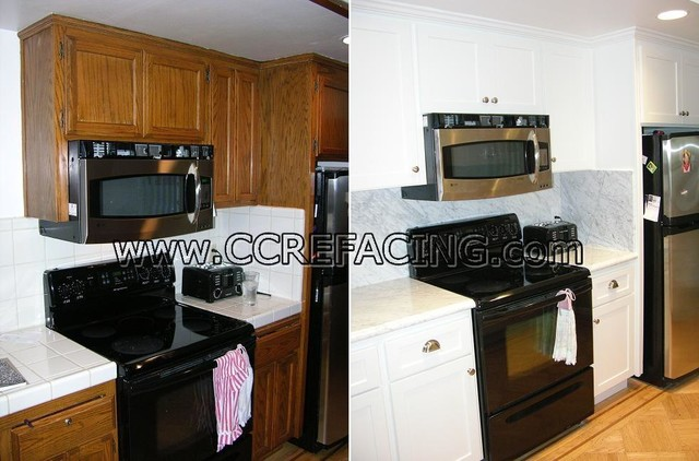 Lafayette Kitchen Reface 1 - Contemporary - Kitchen - San Francisco - by Custom Cabinet Refacing