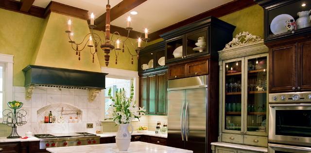 Lake Austin Custom Home traditional-kitchen