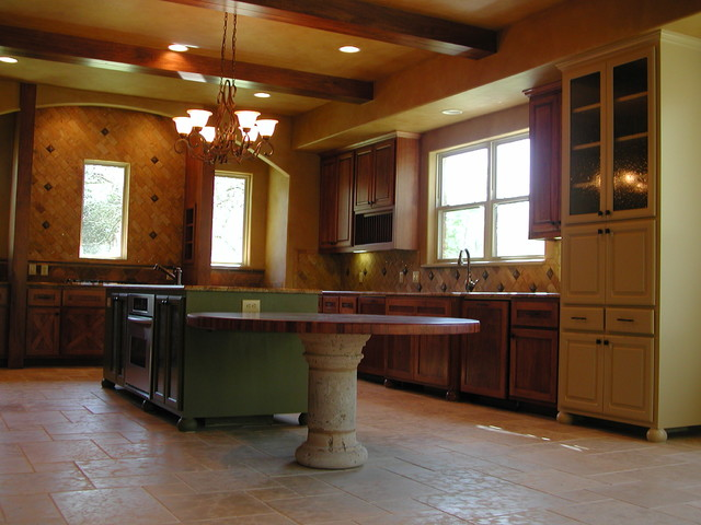 Lake Austin Custom Home mediterranean-kitchen