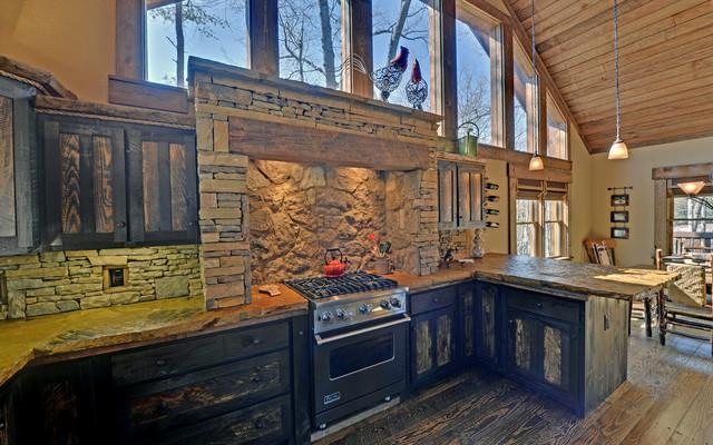 Lake Blue Ridge Custom Log Homes  Traditional  Kitchen  atlanta