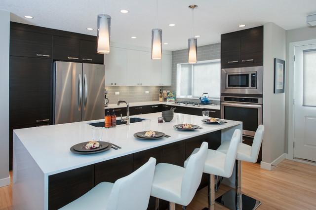 Lake Bonavista Main Floor Renovation - Contemporary - Kitchen ...