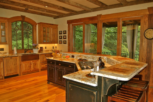 Lake Burton Mountain Home Eclectic Kitchen Atlanta