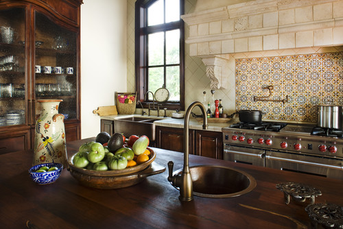 Counter space and deep sinks are high on chef 39 s lists for Mediterranean style kitchens