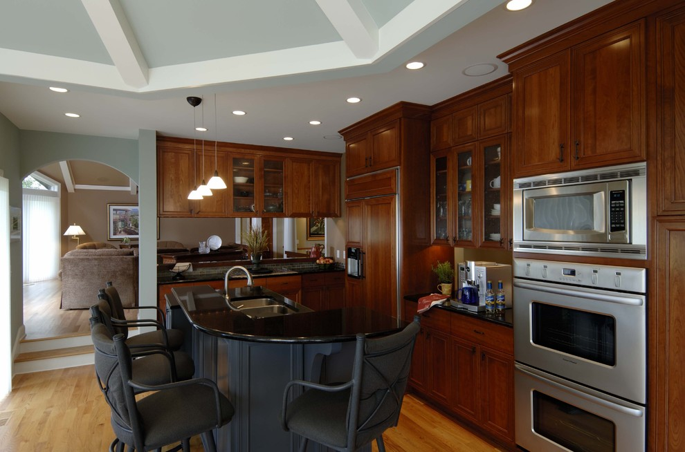 Inspiration for a rustic kitchen remodel in Minneapolis