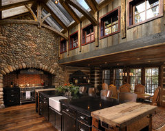 Lake Country Builders rustic-kitchen