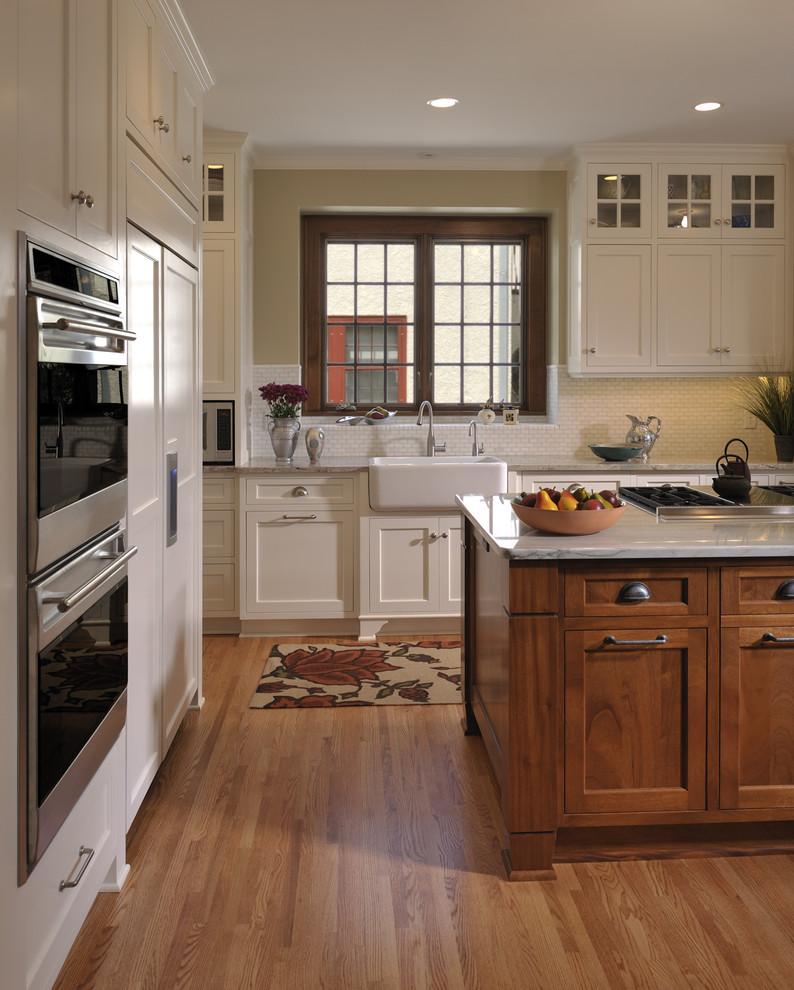 Example of a mountain style kitchen design in Minneapolis