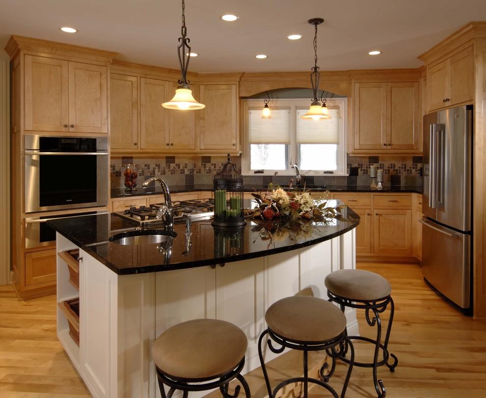 Kitchen - rustic kitchen idea in Minneapolis