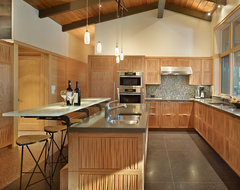 Lake Forest Park Renovation midcentury-kitchen