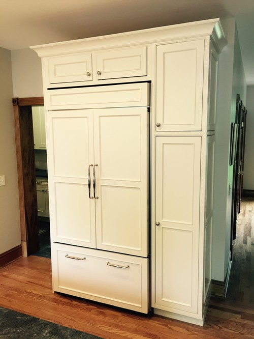 wood refrigerator paneling | how to hide your kitchen appliances