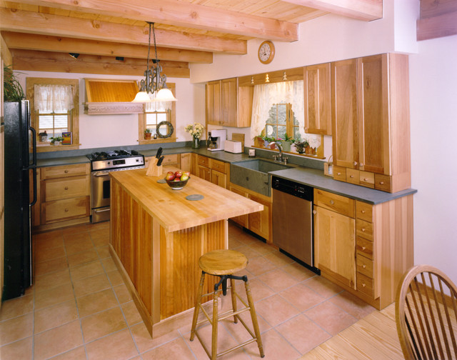 Lake George Saltbox traditional-kitchen