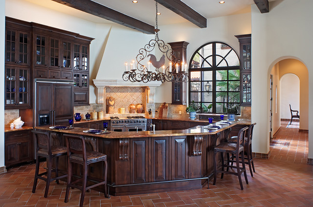 Lake Home Kitchen mediterranean-kitchen