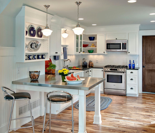 Before And After Of This Beautiful Open Concept Kitchen: Lake Home Kitchen