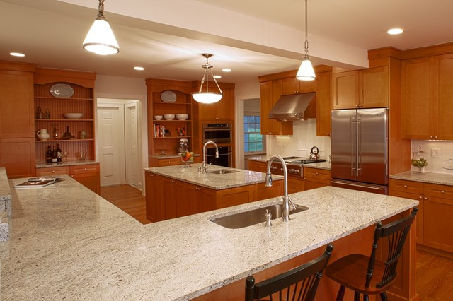 Lake house at bethel ny traditional kitchen new for Bethel kitchen designs
