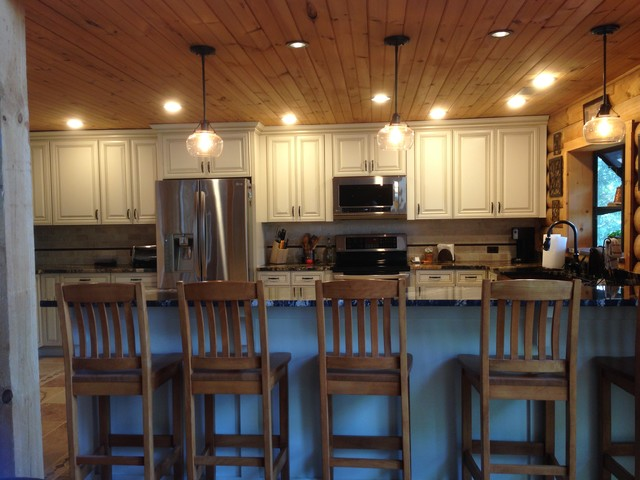 Lake house kitchen remodel for Rustic lake house kitchens