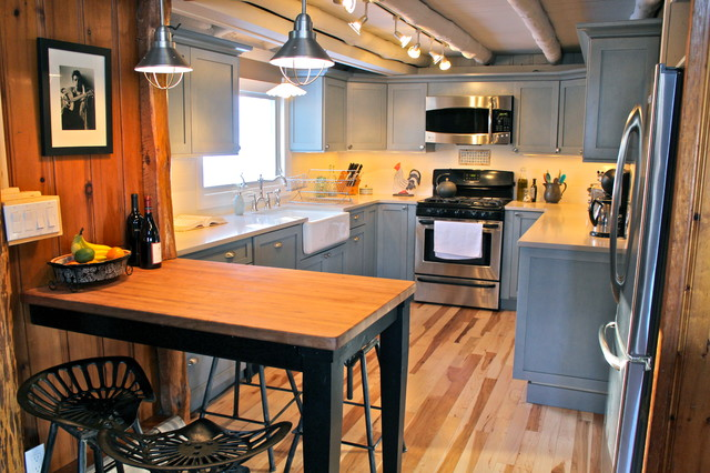Lake house log cabin rustic kitchen new york by for Lake house kitchen designs