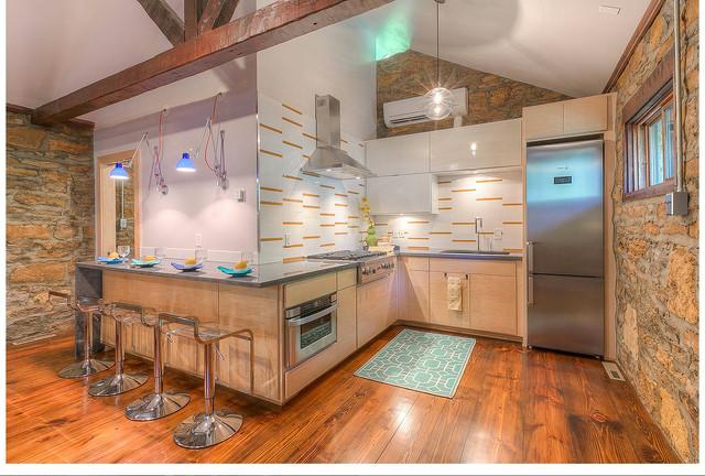 Lake House Remodel modern-kitchen