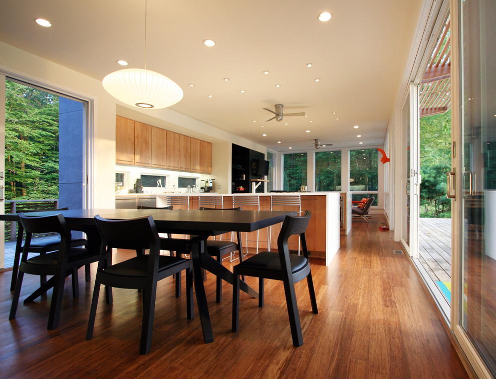 Open concept kitchen - modern open concept kitchen idea in New York