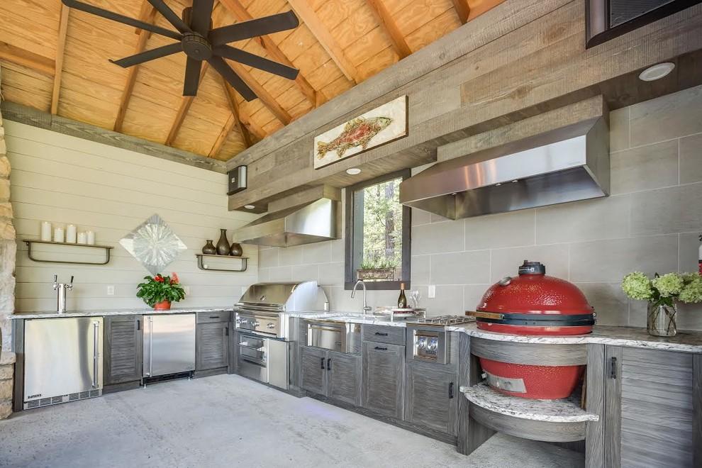 Lake Martin Outdoor Kitchen - Contemporary - Kitchen ...