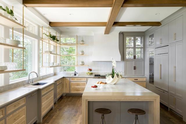 Windows Behind Kitchen Cabinetry, Kitchen Cabinets Around Windows