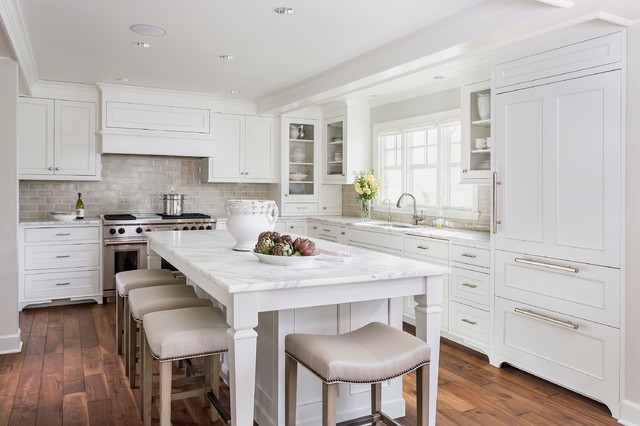 Lake minnetonka tailored white kitchen traditional kitchen
