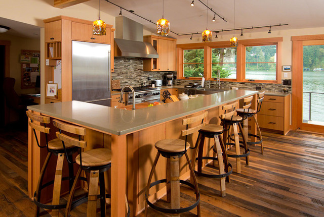 Lake Oswego Lake remodel eclectic-kitchen