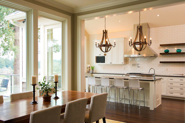 Lake Oswego Riverview home contemporary-kitchen