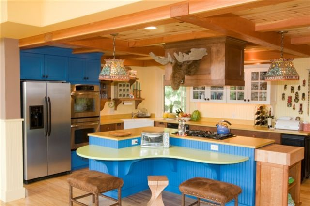 Lake Raponda Vermont house eclectic-kitchen