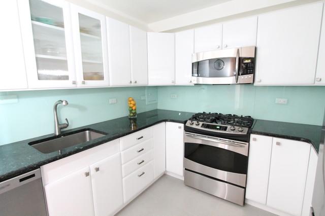 Lake Shore Drive B&W Kitchen contemporary-kitchen