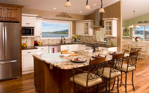 Splendor White Granite Kitchen Countertops Design Ideas
