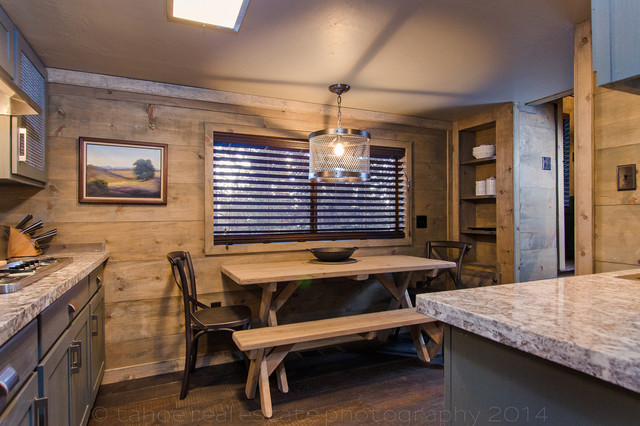 Lake tahoe cabin remodel rustic kitchen other metro for Rustic lake house kitchens