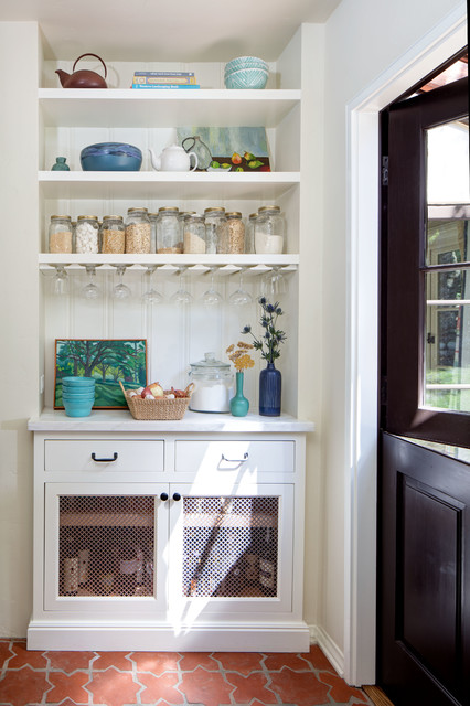 7 Ways To Create Open Pantry E