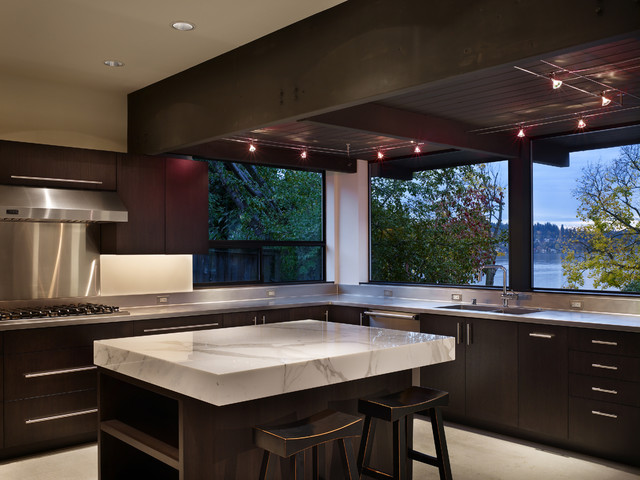 Lake Washington residence modern kitchen
