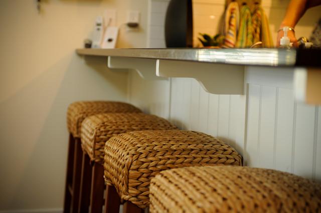 LakeBridge Guest Cottage beach-style-kitchen