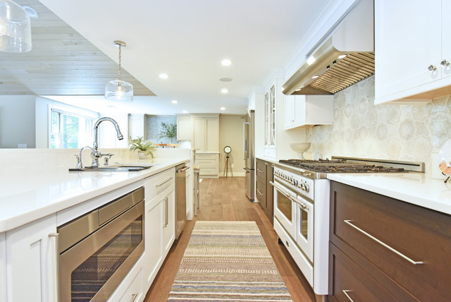 Lakefront Addition and Renovation transitional-kitchen