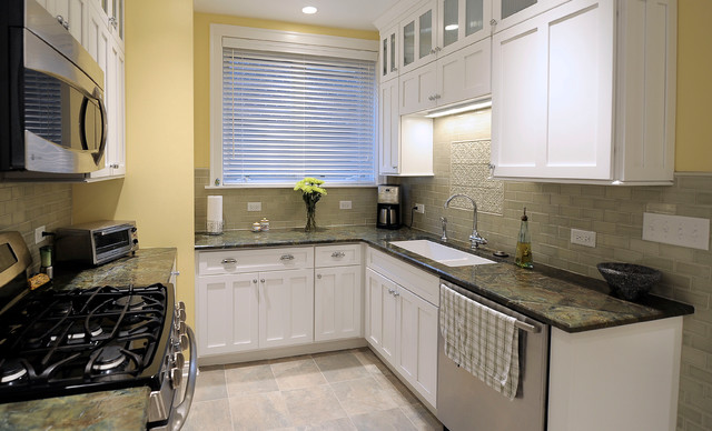 Lakefront condo kitchen traditional-kitchen