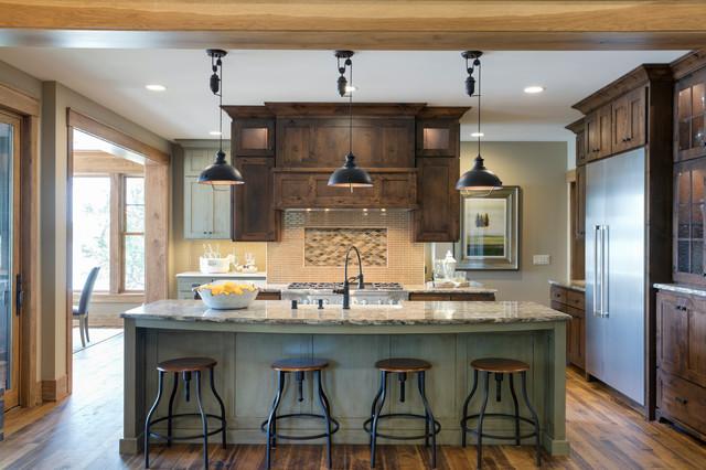 Lakefront Rustic Elegance | Shakopee, MN rustic-kitchen