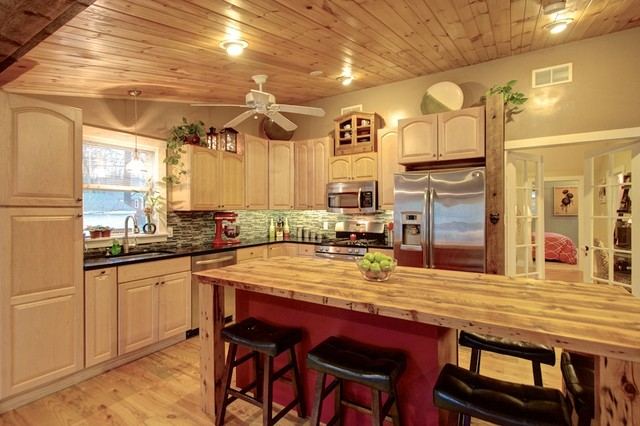 Lakeshore House Rustic Kitchen Boston By Roddy Realty Group