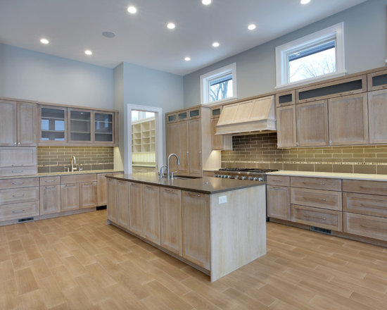 Whitewashed oak cabinets home design ideas pictures for Black washed kitchen cabinets