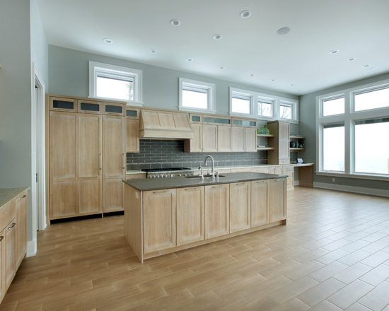 Whitewashed oak cabinets home design ideas pictures remodel and decor - Whitewashed oak cabinets ...